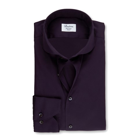 Purple Fitted Body Shirt, Stretch