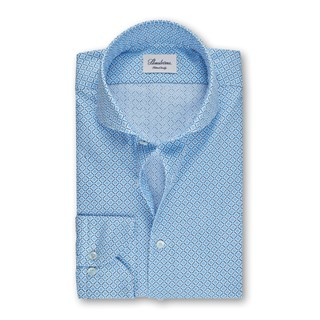 Fitted Body Shirt Medallion Light Blue