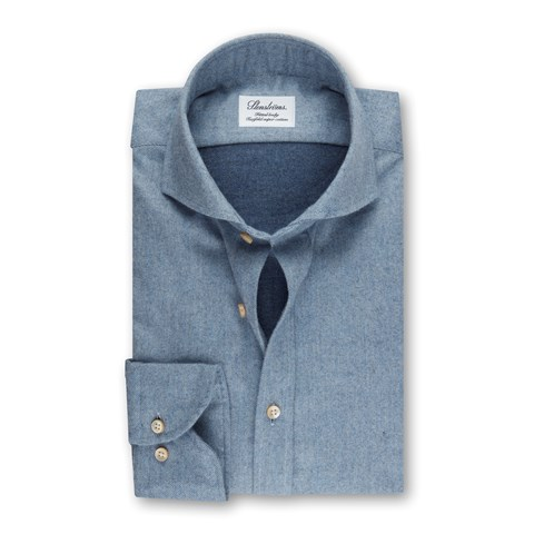 Fitted Body Shirt Flannel Blue