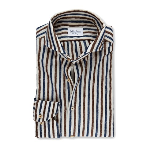 Striped Casual Fitted Body Shirt