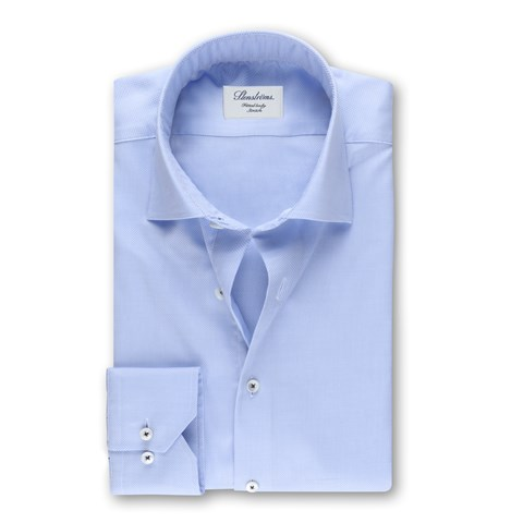 Textured Fitted Body Shirt White, Stretch