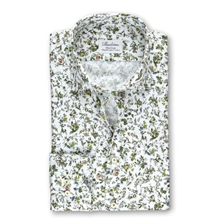 Flower Patterned Fitted Body Shirt