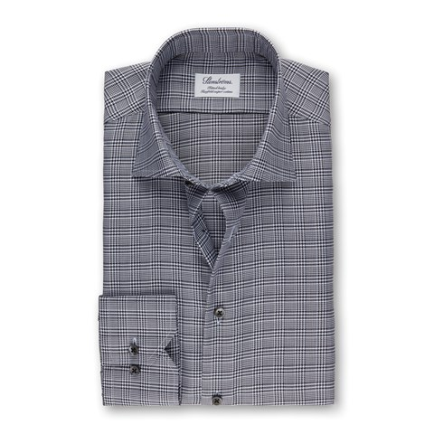 Black/White Glen Check Fitted Body Shirt