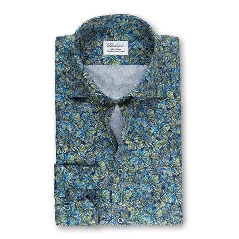 Tropical Flower Fitted Body Shirt