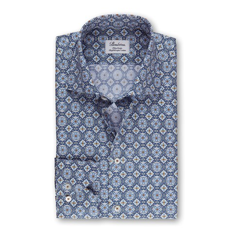 Portuguese Tiles Fitted Body Shirt