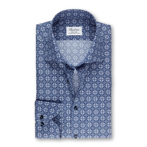 Navy Kaleidoscope Fitted Body Shirt