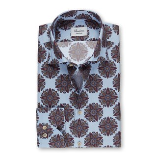 Bold Patterned Fitted Body Shirt