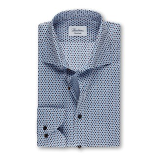 Blue Medallion Fitted Body Shirt