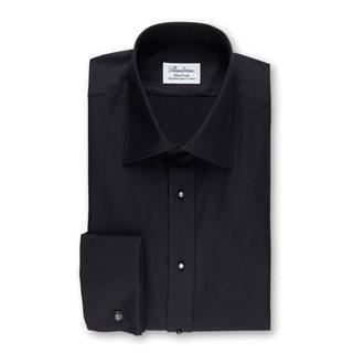 Black Tuxedo Fitted Body Shirt