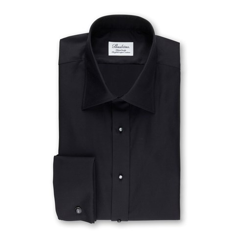 Black Tuxedo Fitted Body Shirt