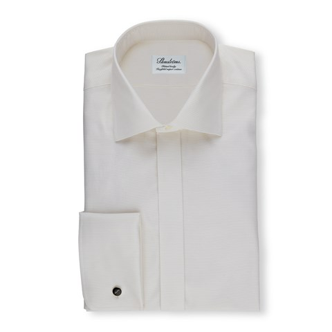 Off-White Fitted Body Shirt In Textured Twill