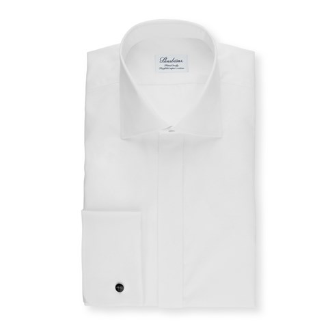 White Fitted Body Shirt, Extra Long Sleeves