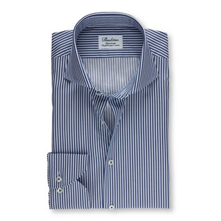 Blue Cadet Striped Fitted Body Shirt