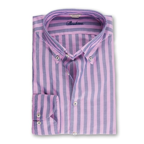 Pink Striped Oxford Shirt