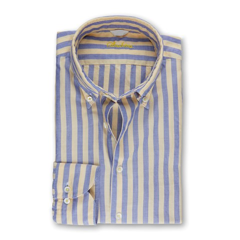 Casual Striped Oxford Shirt
