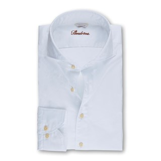 White Casual Fitted Body Shirt
