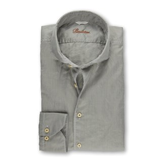 Light Green Casual Fitted Body Shirt