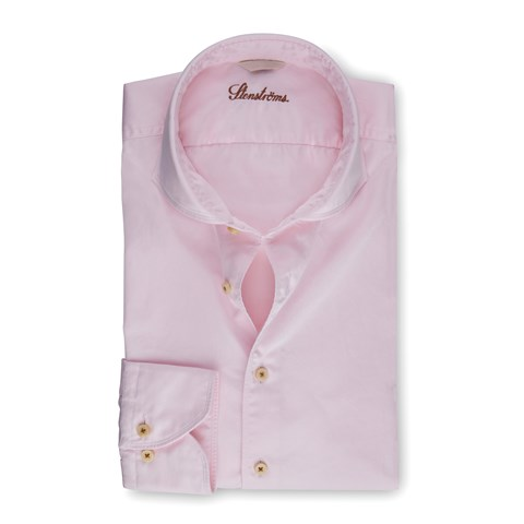 Light Pink Casual Fitted Body Shirt
