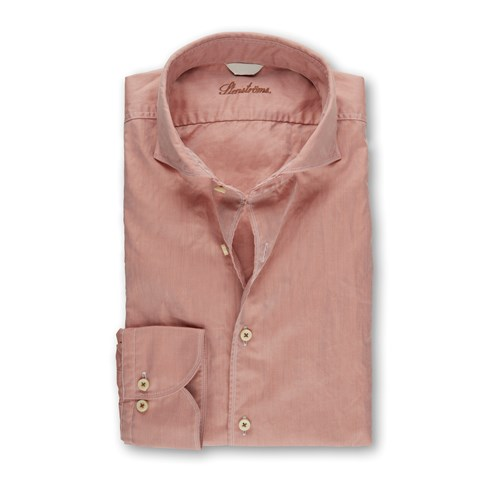 Salmon Casual Fitted Body Shirt