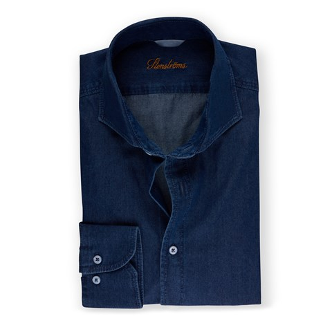 Denim Fitted Body Shirt