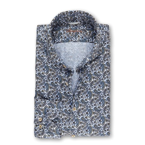 Paisley Patterned Casual Fitted Body Shirt