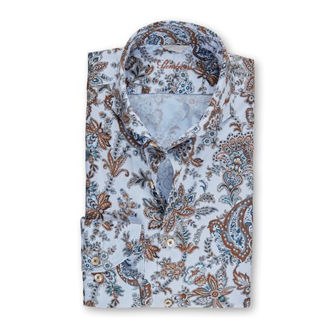 Paisley Casual Fitted Body Shirt