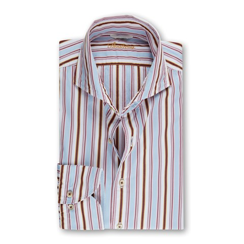 Multicolor Striped Casual Fitted Body Shirt