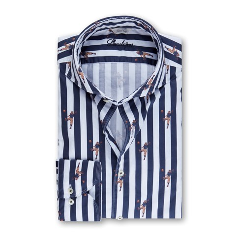 Striped Rugby Fitted Body Shirt