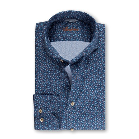 Blue Kaleidoscope Fitted Body Shirt