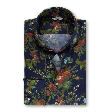 Floral Casual Oxford Fitted Body Shirt