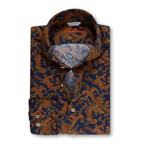 Casual Paisley Oxford Fitted Body Shirt