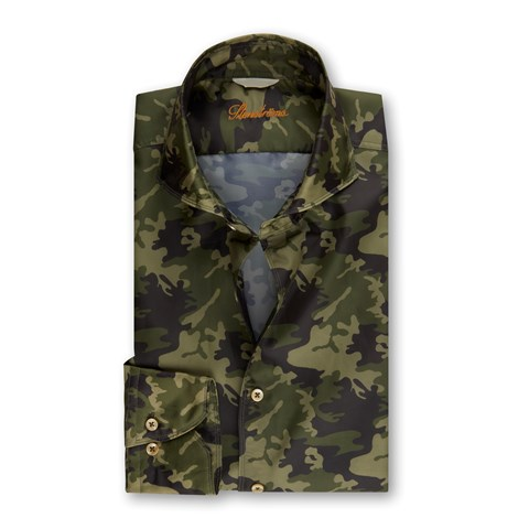 Camoflage Fitted Body Pocket Shirt