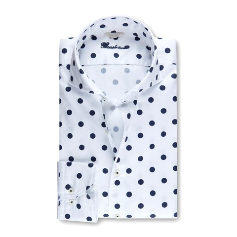 Polka Dot Casual Fitted Body Shirt
