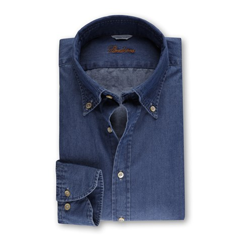 Casual Fitted Body Denim Shirt