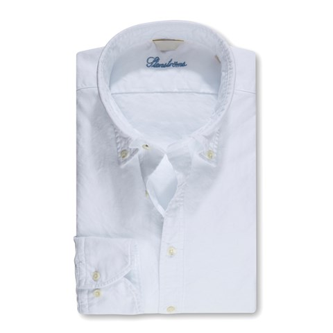 Fitted Body Shirt Casual Oxford White