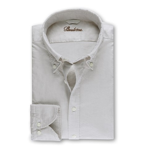 Casual  Fitted Body Shirt Oxford Light Beige