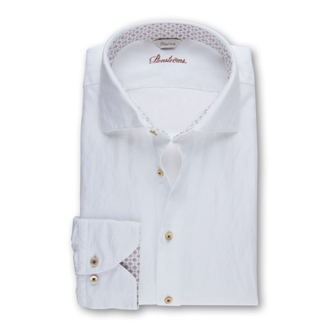 Casual Fitted Body Shirt With Contrast Collar