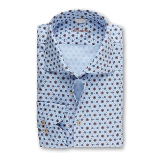 Casual Patterned Fitted Body Shirt
