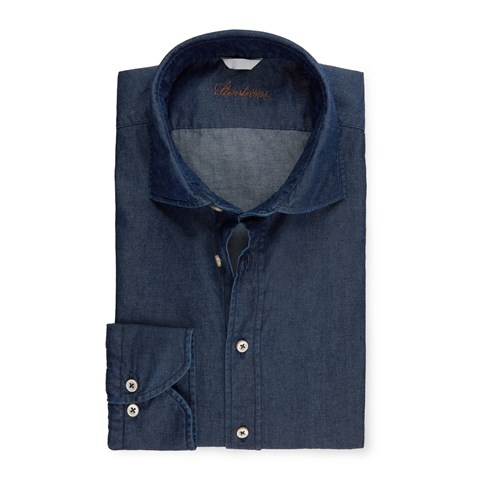 Fitted Body Shirt In Denim