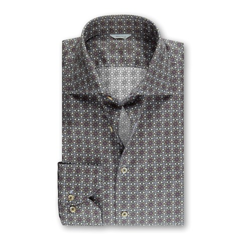 Casual Kaleidoscope Fitted Body Shirt