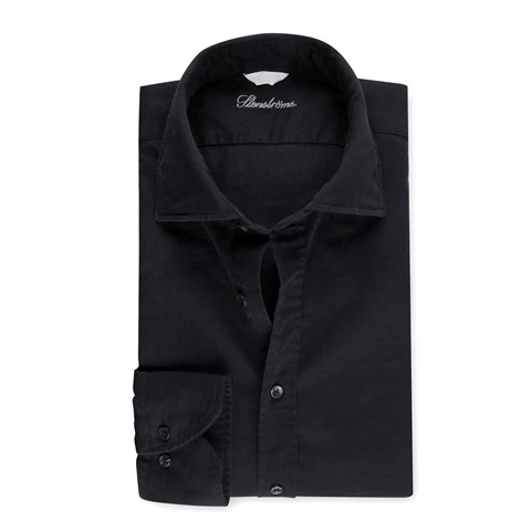 Fitted Body Shirt Denim Black