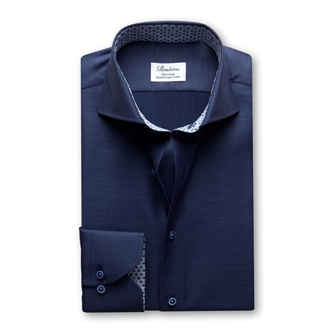 Fitted Body Shirt Contrast, Blue