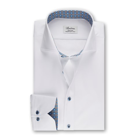Fitted Body Shirt Contrast White