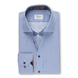 Cadet Stripes Fitted Body Shirt With Details