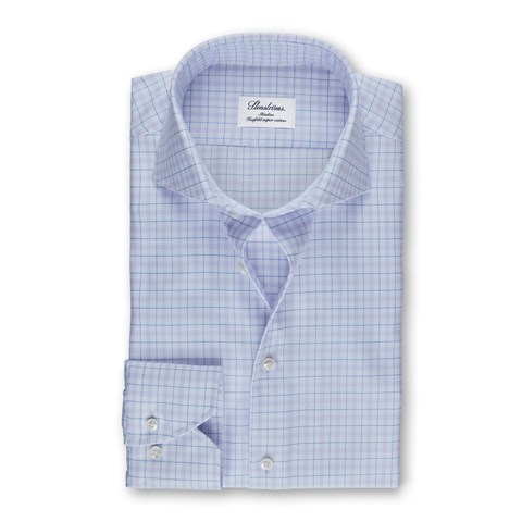 Purple Check Slimline Shirt