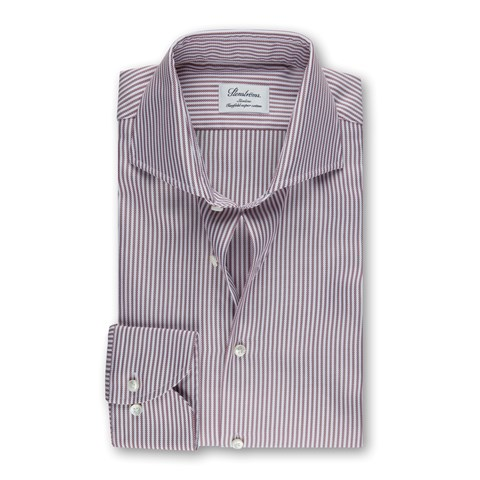 Burgundy Striped Slimline Shirt
