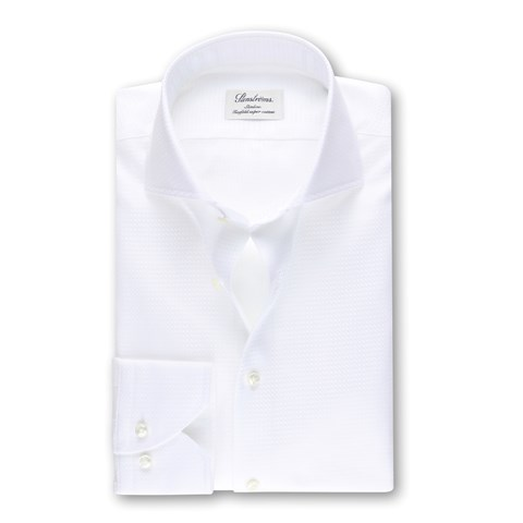 Slimline Shirt Textured White