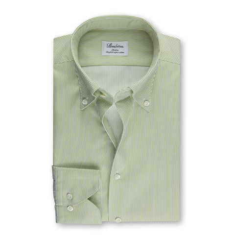 Green Striped Slimline Shirt