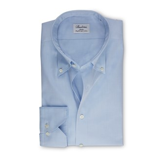 Light Blue Slimline Shirt In Pinpoint Oxford