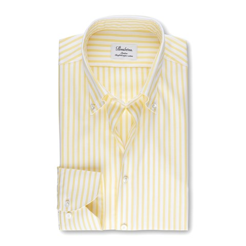 White/Yellow Striped Slimline Shirt